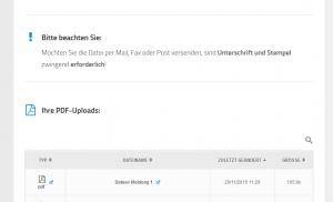 Sie sehen Ihre Dateien nach der Browser-Aktualisierung (F5)